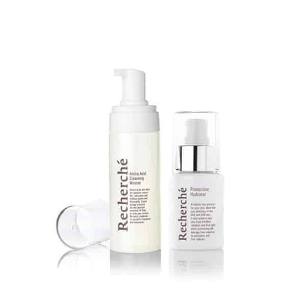 Amino Acid Cleansing Mousse + Protective Hydrator 1